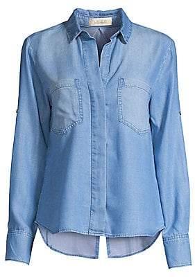 Bella Dahl Women's Split Back Denim Button-Down Shirt