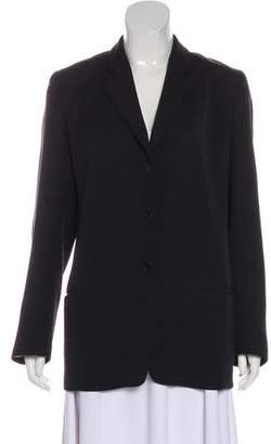 Calvin Klein Collection Silk Notch-Lapel Blazer