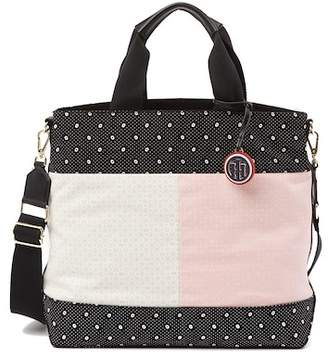 Tommy Hilfiger Nia Convertible Canvas Flag Tote