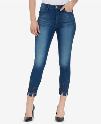 William Rast High-Rise Sculpted Zip Ankle Skinny Jeans