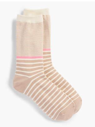 Talbots Multi-Bretton Stripe Trouser Sock