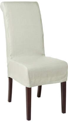 OKA Linen Slip Cover for Echo Dining Chair - Eau de Nil