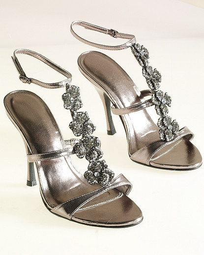 Glittering T-Strap Sandal