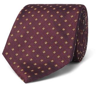 Canali 8cm Floral Silk-Jacquard Tie