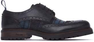 Pollini Blue Derby Shoes