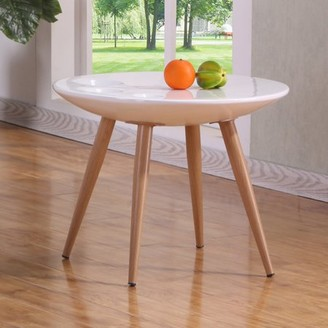 Best Quality Furniture White High Gloss End Table CT85