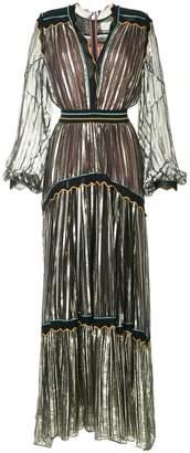 Peter Pilotto striped metallic chiffon gown