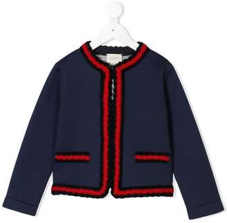 Gucci Kids knitted trim jacket