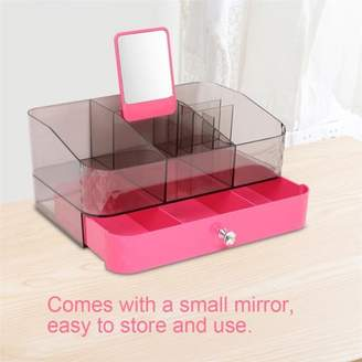 Qiilu Acrylic Makeup Cosmetic Organizer Storage Box Holder Jewelry Lipstick Case Display Drawer