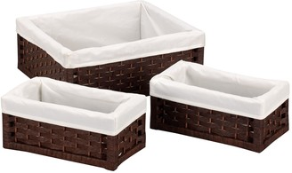 Household Essentials 3-pc. Lined Wicker Utility Basket Set