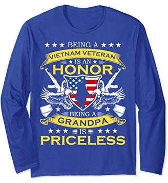 Vietnam Veteran Long Sleeve TShirt Grandpa Priceless Veteran