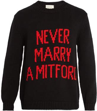 Gucci Never Marry a Mitford sweater