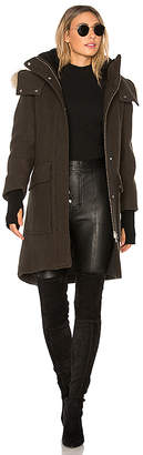 Soia & Kyo Karine Coyote Fur Trimmed Wool Coat