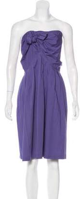 Philosophy di Alberta Ferretti Strapless Pleated Dress