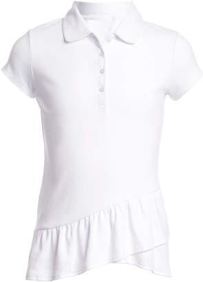 Nautica (ノーティカ) - Nautica Little Girls Asymmetrical Ruffle Polo