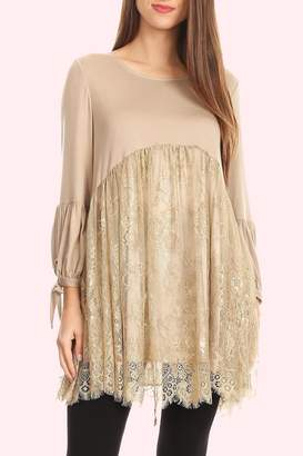 sassy Bling Lace Tunic