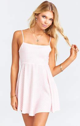 Show Me Your Mumu Arielle Tie Dress ~ Strawberry Shortcake Gingham Gauze