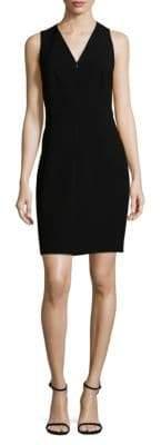 Elie Tahari Sleeveless Zip-Front Dress