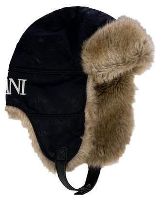 17894eeb5bb Armani Junior Boys  Faux Fur Hat