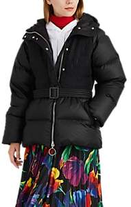 IENKI IENKI Women's Ruched Down Belted Puffer Jacket - Black