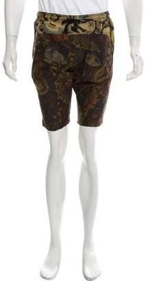 Dries Van Noten Printed Drawstring Shorts