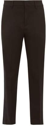 RED Valentino Satin Trimmed Tailored Twill Trousers - Womens - Black