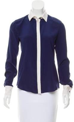 Prabal Gurung Silk Long Sleeve Top