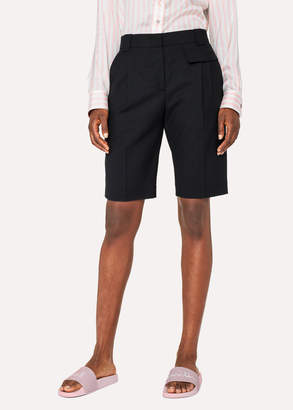 Paul Smith Women's Black Wool Shorts