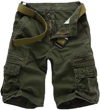 3.1 Phillip Lim WSLCN Mens Military Style Combat Cargo Shorts Cotton (Without Belt) 36