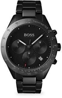 HUGO BOSS Talent Black Ceramic& Ionic Plated Black Stainless Steel Bracelet Watch