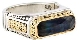 Konstantino Two-Tone Spectrolite Doublet Ring