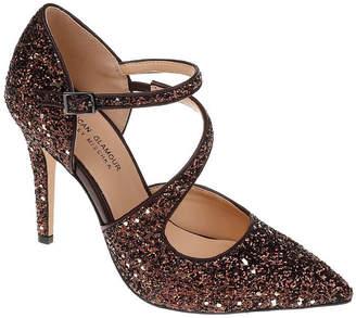 Badgley Mischka AMERICAN GLAMOUR American Glamour Adela Womens Pumps Buckle Pointed Toe Stiletto Heel