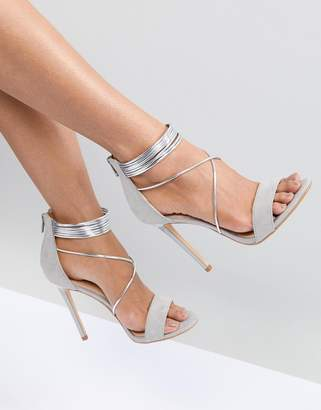Office Hollywood Gray Heeled Sandals