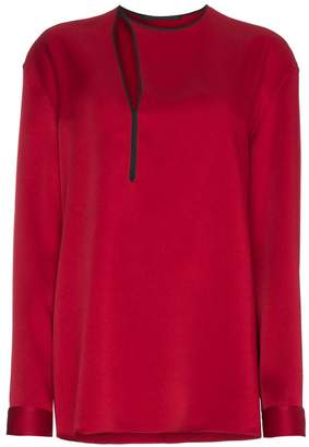 Haider Ackermann Silk Cut Out Detail Top
