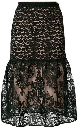 No.21 high-waisted lace skirt