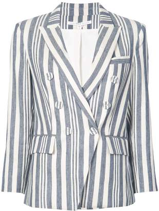 Veronica Beard striped double breasted blazer