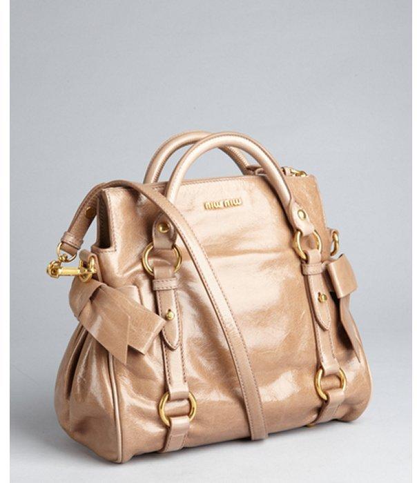 Miu Miu Miu cammeo leather slouchy crossbody bag