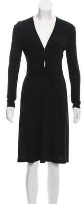 Celine Gathered Knee-Length Dress