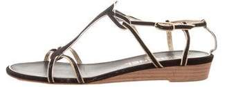 Chanel CC Wedge Sandals