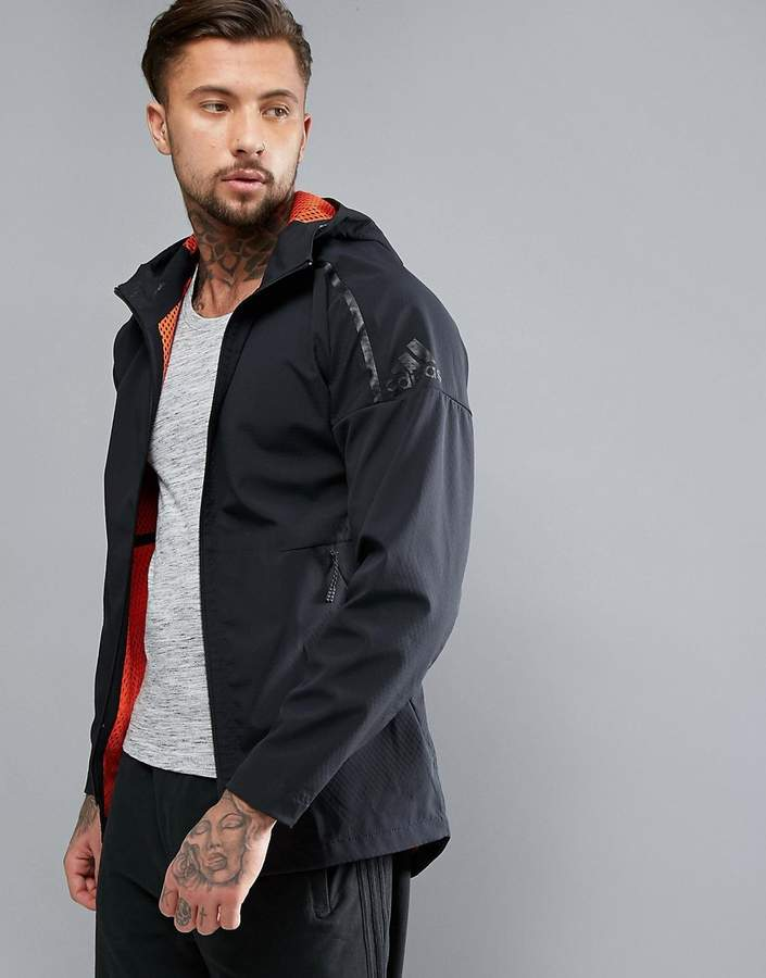 Adidas adidas ZNE Hoodie With Dropped Hem in Black B46971