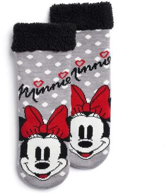Disney Disney's Minnie Mouse Girls 4-16 Cozy Slipper Socks