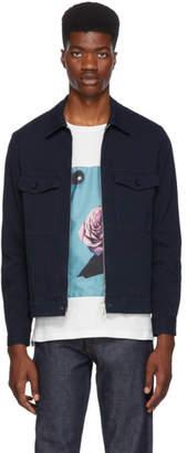 Paul Smith Navy Canvas Short Jacket