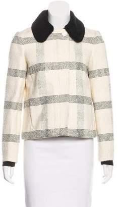 Tory Burch Striped Tweed Jacket