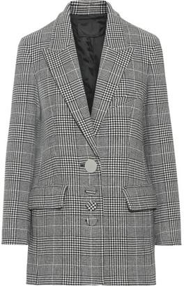 Alexander Wang - Oversized Houndstooth Wool-blend Blazer - Black