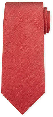 Ermenegildo Zegna Two-Tone Chevron Silk Tie, Red