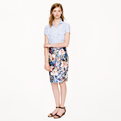 J.Crew Collection mai tai floral skirt
