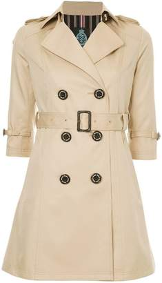 GUILD PRIME cropped sleeve trench coat