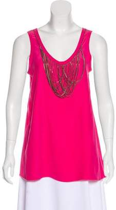 Yigal Azrouel Embellished Silk Top w/ Tags