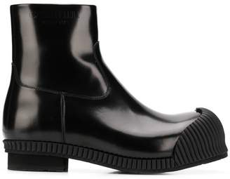 Calvin Klein rubber toe ankle boots