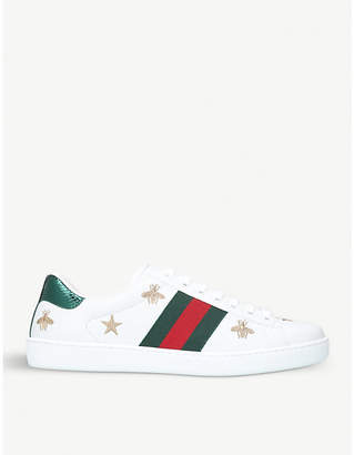 110f7b1f70b Gucci White Leather Shoes For Men - ShopStyle UK